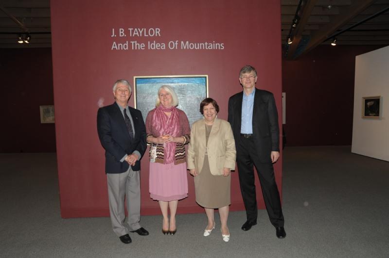 Phil Taylor, Michale Lang, Adriana Davies & Chris Taylor at J. B. Taylor Exhibit Opening